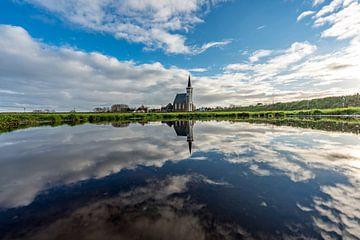 Texel Den Hoorn overdag spiegel effect door waterkolk