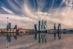 Rotterdam Skyline van Michiel Buijse