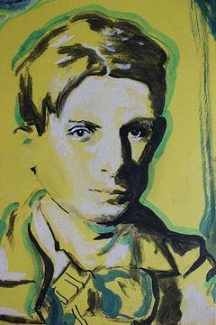 Portret van Pablo Picasso van Helia Tayebi Art