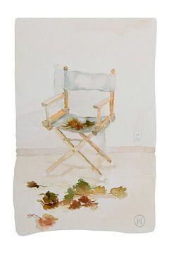 Direktorenstuhl mit Herbstlaub von Studio Heyki