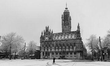 Das Rathaus von Middelburg im Winterkleid von Percy's fotografie