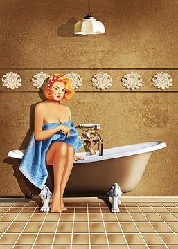 Badezimmer Nostalgie von Monika Jüngling