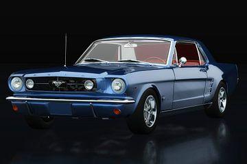 Ford Mustang GT drie-kwart uitzicht