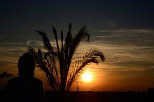 Zonsondergang Deck 5 Berlijn van Jeroen Harmsen