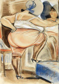 Erotische Pose einer dicken Frau, 1920er Jahre von Atelier Liesjes