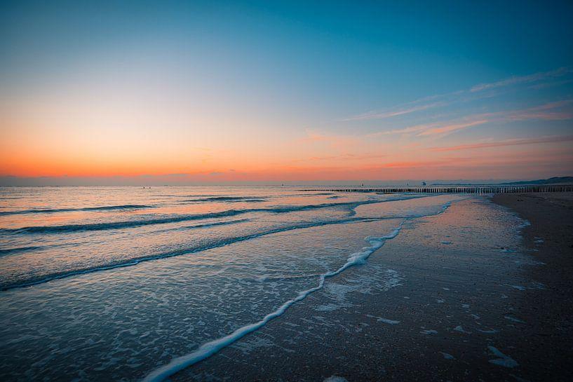 Zonsondergang Dishoek strand von Andy Troy