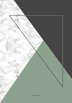 Marble green triangle van The Pixel Corner