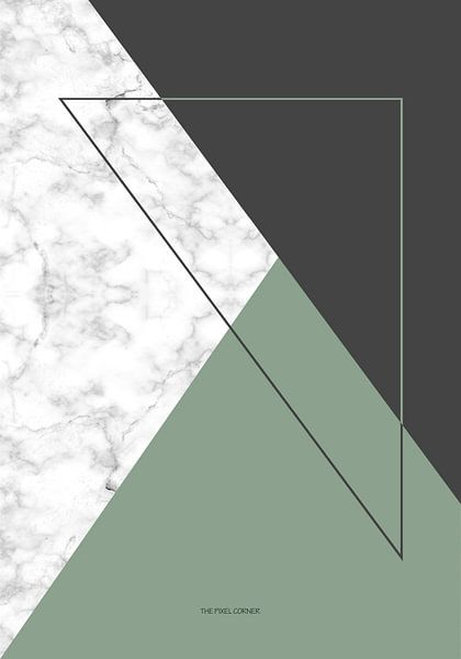 Marble green triangle