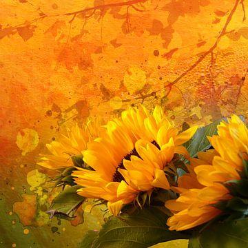 zonnebloemen van Andreas Wemmje