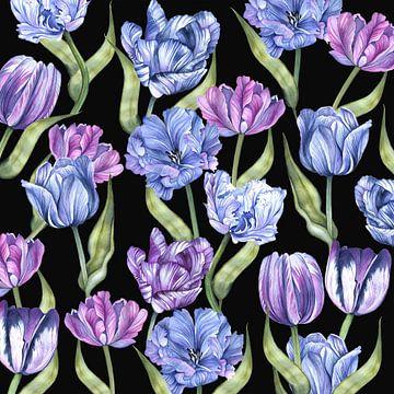 tulpen aquarel van Geertje Burgers