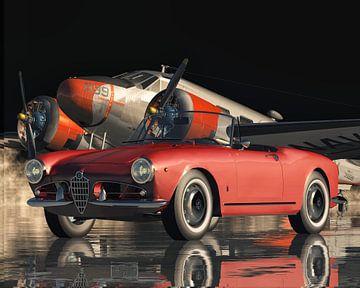 Alfa Romeo Giulietta 1300 Spyder ein Sportwagen von 1955 von Jan Keteleer