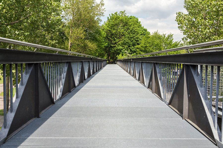 Loopbrug in Wesel van Jaap Mulder