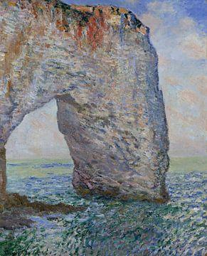 Le Manneporte près Étretat, Claude Monet sur