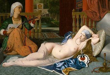 In bed met Griet en Odalisque von Jerome Coppo
