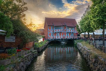 Fachwerk Brueckenhaus in Wismar van Rene Siebring