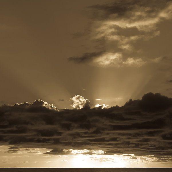 Zonsondergang Soufriere Saint Lucia van Inez Wijker