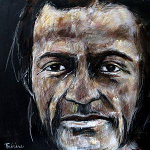 Portret van Chuck Berry. van Therese Brals