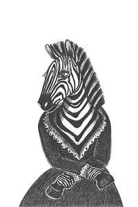 Jonkvrouw Zebra van Karolina Grenczyk