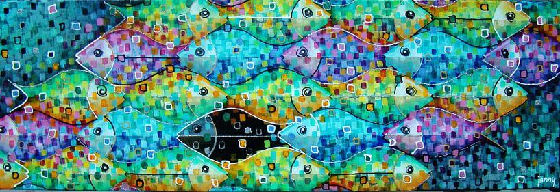 School vissen van Janny Heinsman