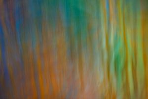 Fantasie in groen, blauw en oranje