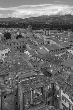 Lucca, Italië - Uitzicht vanaf Torre delle Ore - 4 van Tux Photography