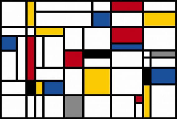 Composition-I-Piet Mondrian