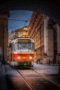 Praagse Tram 2 van Iman Azizi