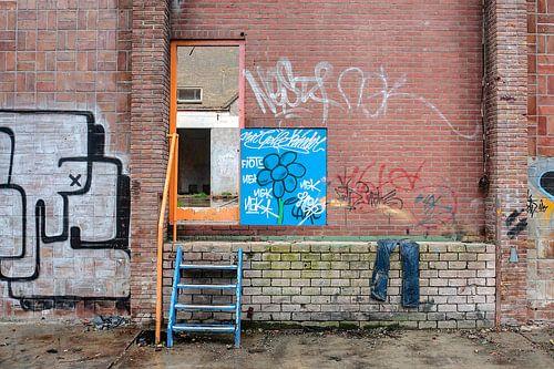 Groningen / Straatkunst / De blauwe spijkerbroek / 2010