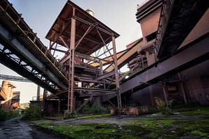 verlaten staalfabriek