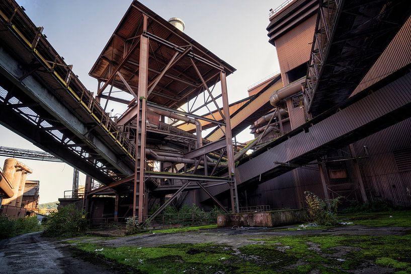 verlaten staalfabriek van Kristof Ven