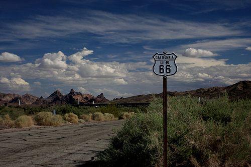 Route 66 in Californie/Arizona van