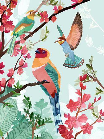 Zomervogels van Goed Blauw