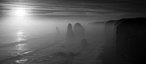 12 Apostles Australie (zwart-wit)