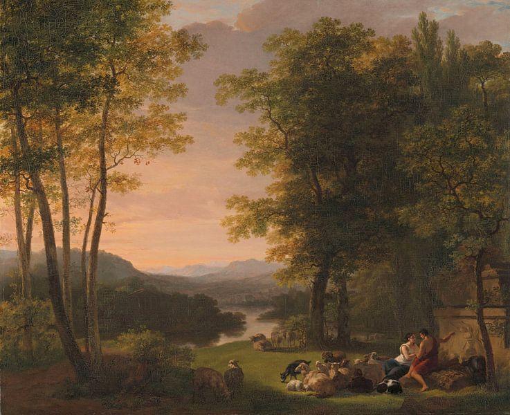Jan Willem Pieneman, Arcadisch landschap (gezien bij vtwonen) van Meesterlijcke Meesters