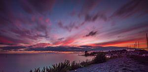 zonsondergang bij de vuurtoren