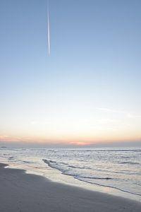 Zonsondergang aan de Nederlandse kust