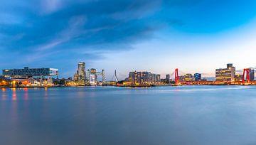 De skyline van Rotterdam van Arisca van 't Hof
