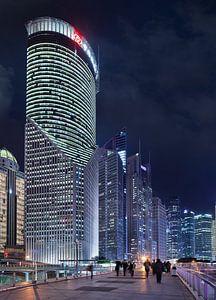 gratte-ciel impressionnants à Shanghai au crépuscule