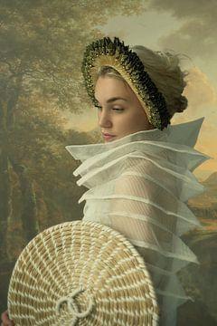 Mädchen in der Malerei von Reiny Bourgonje Fotografie