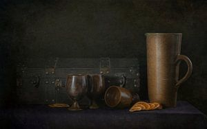 Kunstfoto als olieverfschilderij stilleven van Danny den Breejen