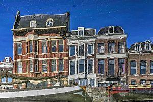 Verspiegeling Voorhaven, Delfshaven van Frans Blok