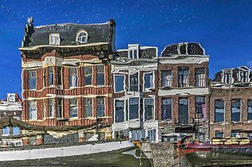 Reflectification au Voorhaven, Delfshaven sur Frans Blok