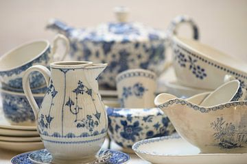 Vieux bleu vaisselle sur Barbara Brolsma
