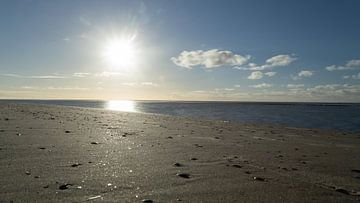 Sonnenuntergang Strand Hollum Ameland von Hendrik Harm