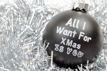 Zwart wit kerstball von Denislav Georgiev
