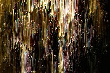 Vallende lichtstroken van Inge Heathfield
