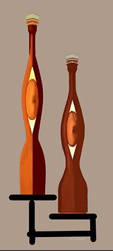 Perzikwijn Antieke Flessen van Annaluiza Dovinos