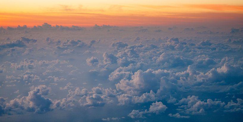Atlantische zondsondergang van Bob de Bruin