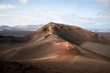 Vulkan im Timanfaya Nationalpark Lanzarote von Daan Duvillier