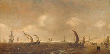 Seelandschaft am Strand von Scheveningen, Willem van Diest